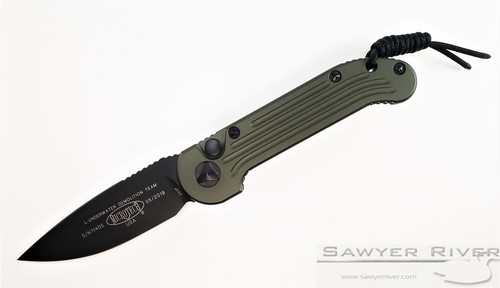 MICROTECH L.U.D.T. WITH OD GREEN HANDLE AND BLACK BLADE