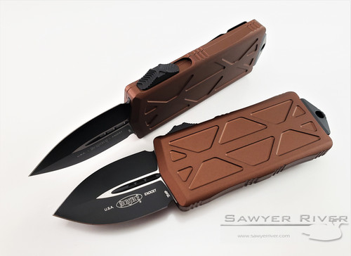MICROTECH EXOCET DARK TAN OR BROWN HANDLE