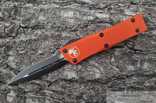 MICROTECH TROODON D/E BLACK BLADE ORANGE