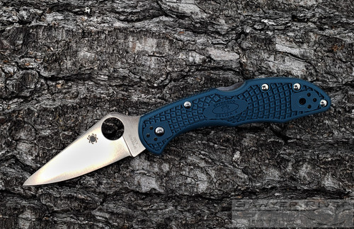 SPYDERCO DELICA 4 K390 BLADE BLUE HANDLE