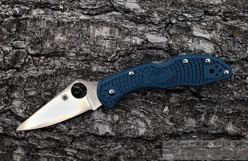 SPYDERCO DELICA 4 K390 BLADE BLUE HANDLE