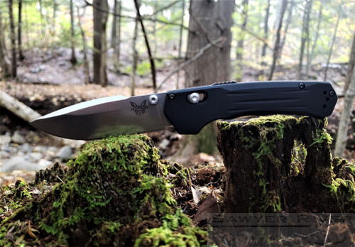 Benchmade Mini Vallation Satin Blade Black Handle