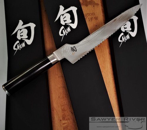 "SHUN CLASSIC 9"" OFFSET BREAD KNIFE"