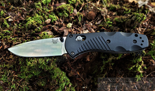 Benchmade Mini Barrage Satin Blade Black Handle