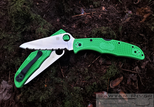 SPYDERCO PACIFIC SALT 2 GREEN HANDLE