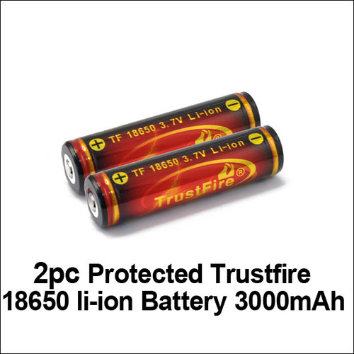 TrustFire 18650 Protected Batteries