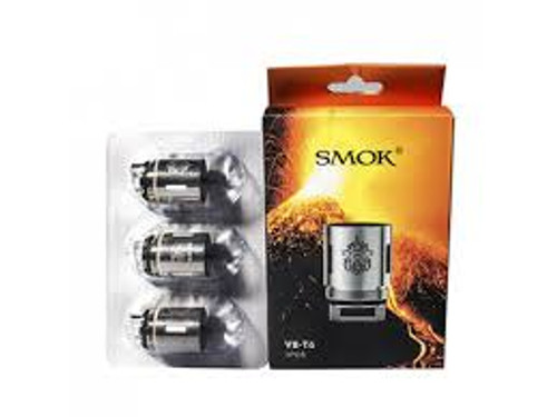 SMOK TFV8 V8-T6 Coils 3 Pack [0.15ohm]     Replacement coils for the TF-V8 Cloud Beast, brings a deep and rich cloud taste, while maintaining cool and smooth feeling.     Features:  Turbo: 6.0T Patented Sextuple Coil 0.2Ohm (50-240W / BEST 110-150W)