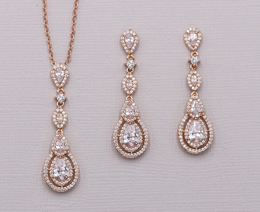 Aimee Rose Gold Jewelry Set
