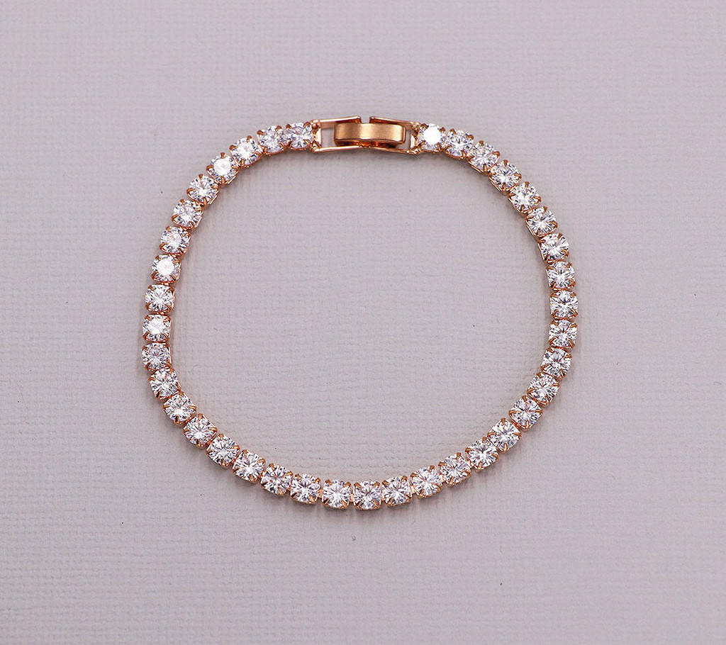 Ella Cubic Zirconia Wedding Tennis Bracelet