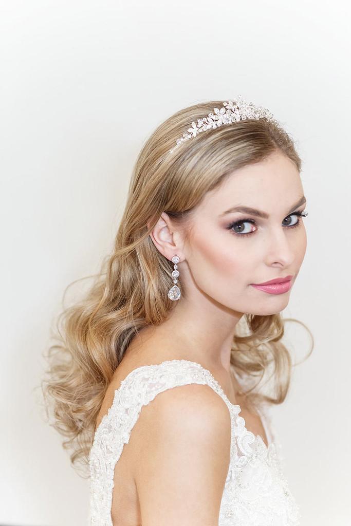 Marianna Floral Crystal Wedding Tiara