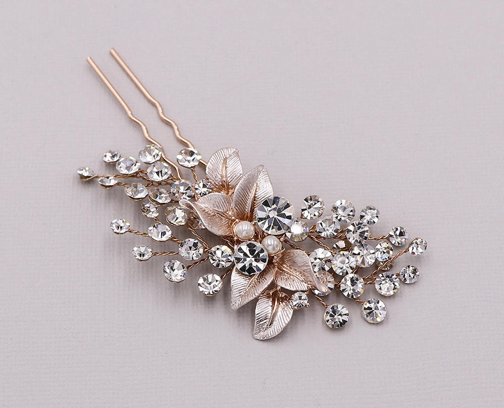 Aliana Brushed Metal Leaf Hair Pin