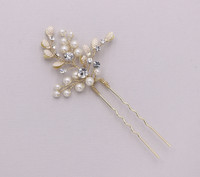 Pearl Twigs and Leaves Wedding Hairpin