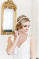 Kylee Metal Flowers and Pearls Hair Vine Headband