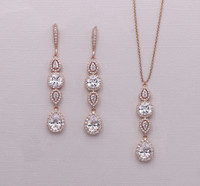 Bridgette Dramatic Pear Drop Earrings and Necklace Set