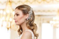 Bianca Swarovski Crystal Rose Gold Wedding Comb