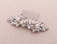Giselle Bridal Crystal and Pearl Barrette Comb