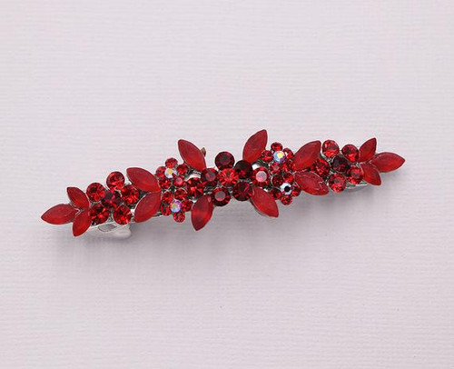 Brynlee Red Barrette Clip