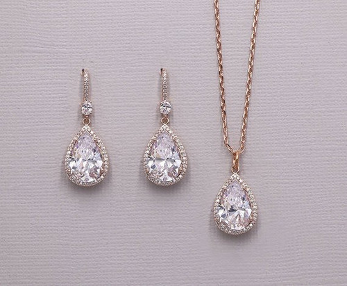 Isabella Wedding CZ Jewelry Set