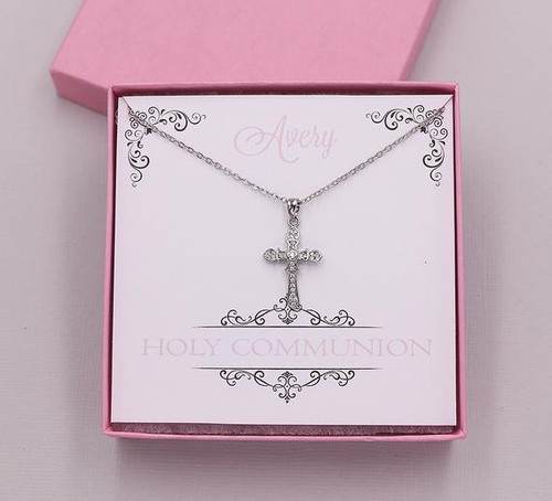 Cross Pendant Necklace Holy Communion Gift