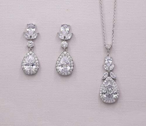 Tulips Wedding Jewelry Set for Brides