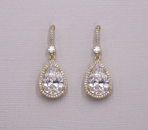 Isabella Teardrop Wedding Earrings