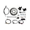NCY FRONT END DISC CONVERSION KIT (BLACK CALIPER) FOR RUCKUS