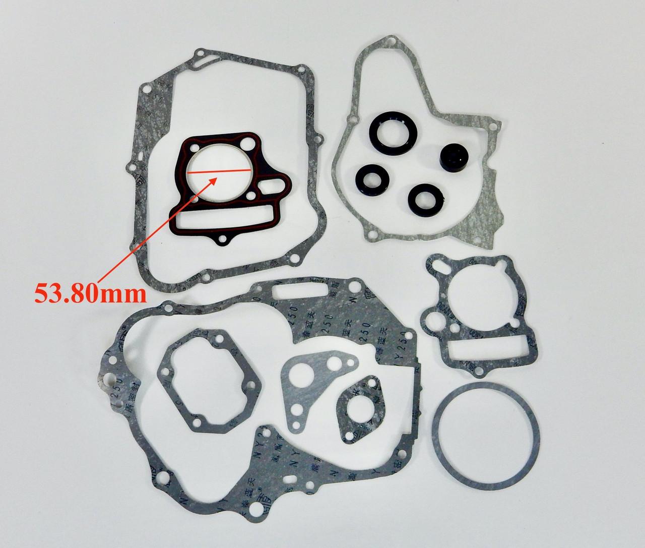 125cc (54mm) E22 GASKET KIT FOR CHINESE ATV DIRT BIKE CLONE MOTORS *LARGE SET*