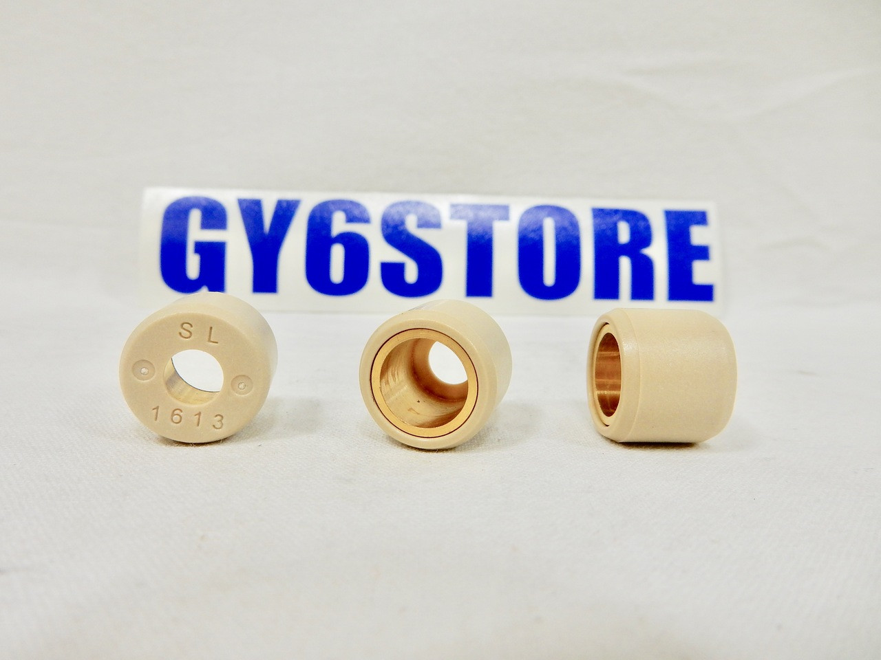 DR. PULLEY (16x13) ROUND ROLLER WEIGHTS FOR 50cc - 100cc QMB139 MOTORS