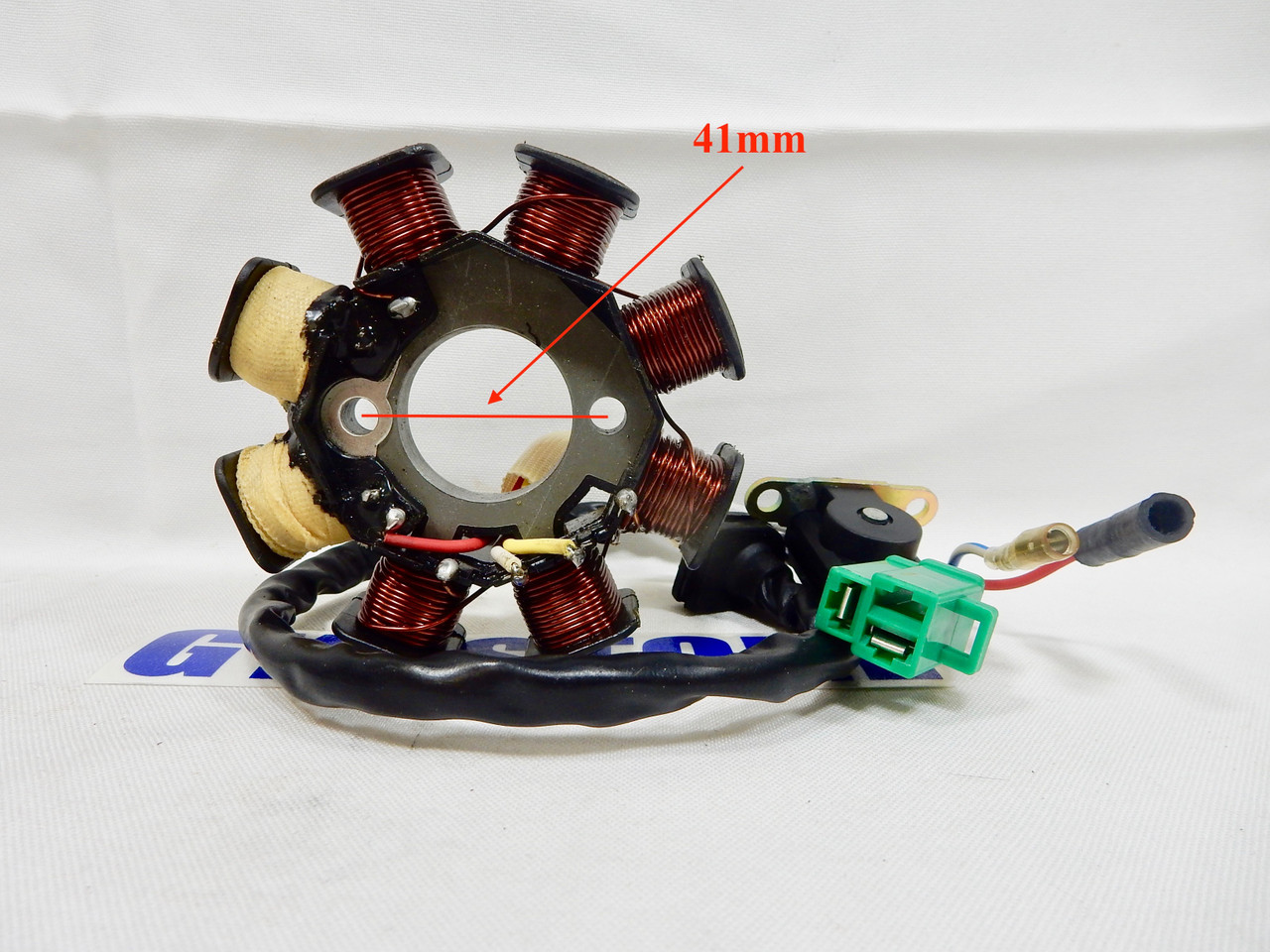 50cc - 100cc QMB139 PERFORMANCE AC 8 COIL MAGNETO STATOR FOR SCOOTERS (4  WIRE, 3 PLUG) *TYPE 3*