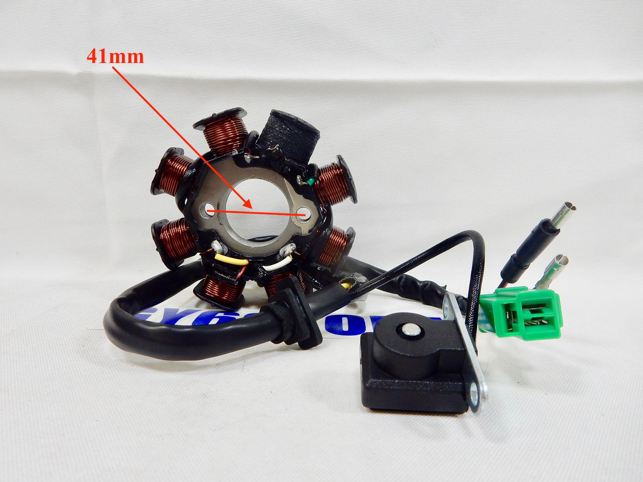 150cc GY6 8 COIL POLE AC STATOR MAGNETO FOR SCOOTER ATV (5 WIRE 3 PLUG) on