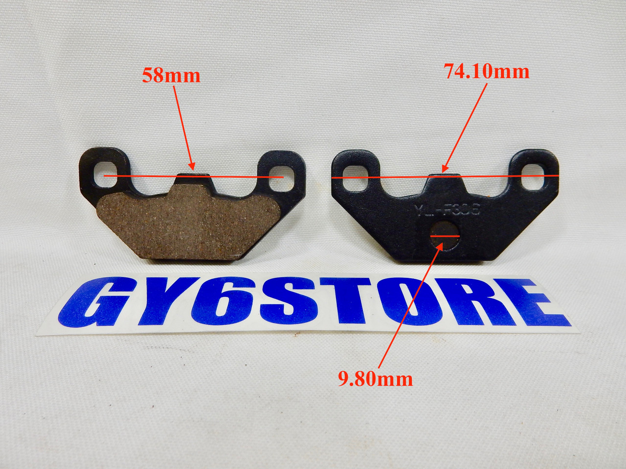 DISC BRAKE PAD SET FOR 50cc QMB139 AND 150cc GY6 SCOOTERS ATV BIKE (TYPE 8)