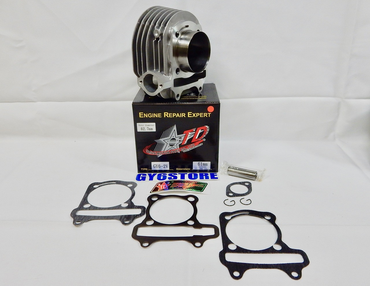 TAIDA PERFORMANCE 172cc (61mm) GY6 CYLINDER SET WITH (57mm SPACING) CAST PISTON