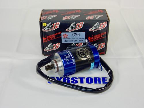 TAIDA PERFORMANCE GY6 *4 POLE* (BLUE) HIGH TORQUE 180cc - 232cc STARTER MOTOR
