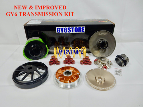 NCY PERFORMANCE SUPER CVT TRANSMISSION KIT FOR SCOOTERS WITH 150cc - 232cc GY6 MOTORS *TYPE 2*