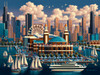 Chicago Navy Pier Puzzle Image