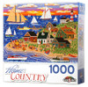 Beach Bonfire Gathering Americana Puzzle