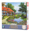 Rustic Cottage with Swans Jigsaw Puzzle