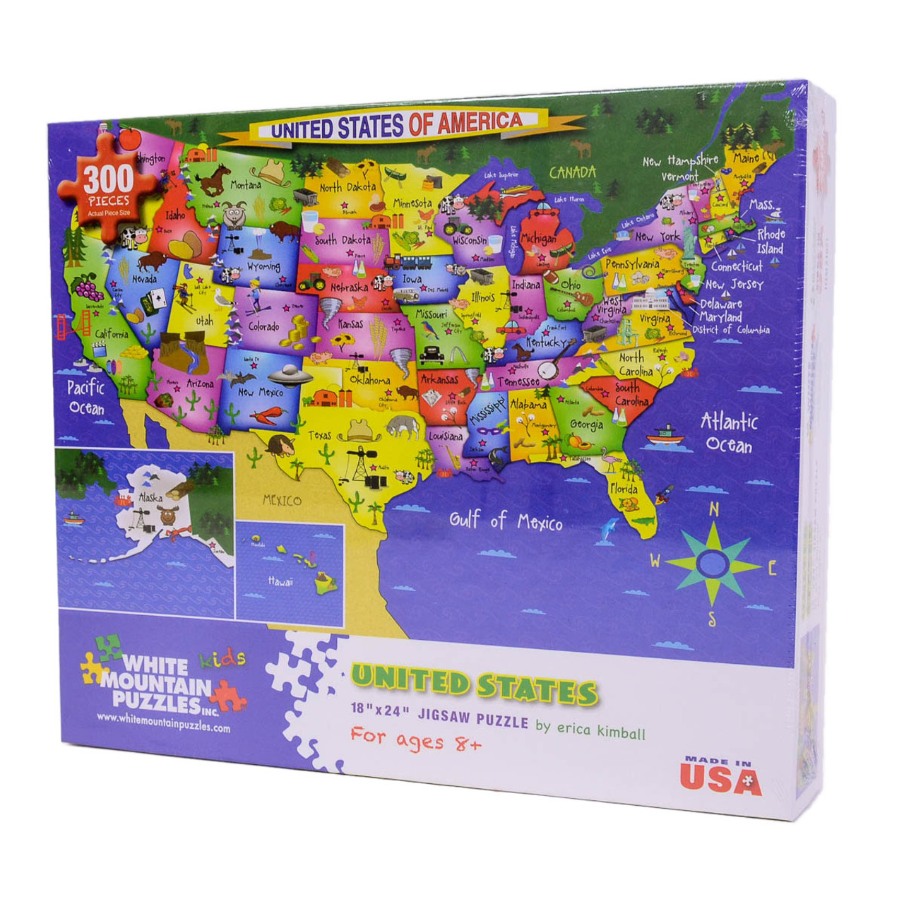 A Large Map Of The United States.United States Map Wholesale Puzzles