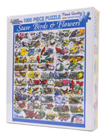 State Birds and Flowers - 1000 Piece Jigsaw Puzzle
