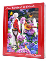 Cardinals & Friends 550 Piece Jigsaw Puzzle