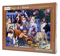 Dogs on a Bench 1000 Piece Jigsaw Puzzle