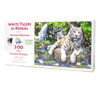 White Tigers of Bengal (Large Piece Puzzle)