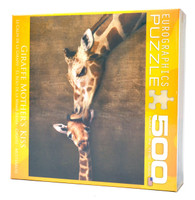 Giraffe Mother's Kiss Jigsaw Puzzle