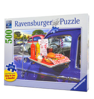 Drive-Thru Route 66 (Large Piece Jigsaw Puzzle)