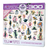 Yoga Puppies (Large Piece Puzzle)