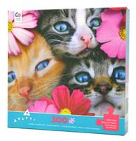 Kittens in Flowers (300 Large Piece)