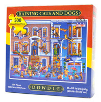 Raining Cats and Dogs 500-Piece Puzzle
