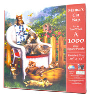 Mama's Cat Nap (1000-piece Jigsaw Puzzle)
