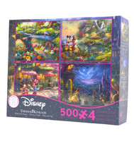 Disney Collection 4 in 1 Puzzle Assortment