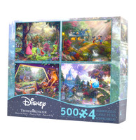 Disney Kinkade Collection 4 in 1 Puzzle Assortment